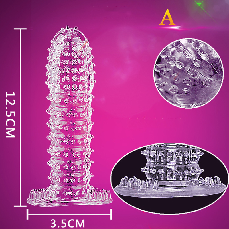 Free Shipping 5PCS Nozzle on Penis Dick Extensions condom Penis Sleeve Male Enlargement for Men Delay Spray Massager Condom