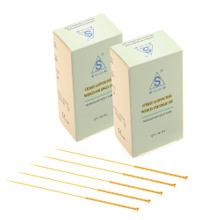 7 Gold Plated Handle Acupuncture Needles 7 Gold Plated